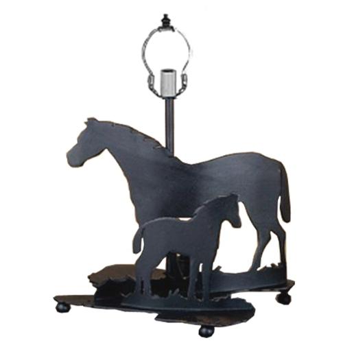 Meyda Tiffany 22730 13.5 Inch Mare & Foal Base Black