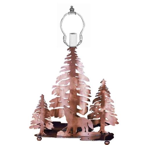 Meyda Tiffany 28730 14 Inch Wolf/3trees Base A/C