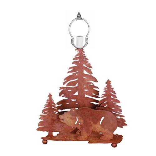 Meyda Tiffany 29077 14 Inch Grizzly Bear/3tree Base Rust