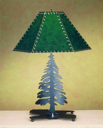 Meyda Tiffany 49332 16 Inch Pine Tree Base Black