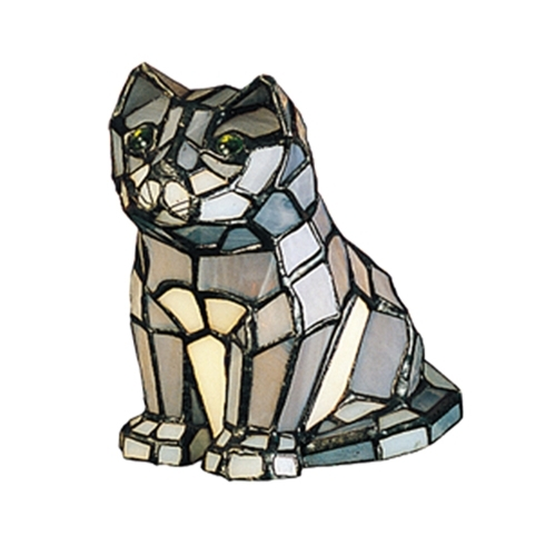 Meyda Tiffany 11323 7 Inch H X 4 Inch W X 6 Inch D Tiffany Cat Accent Lamp