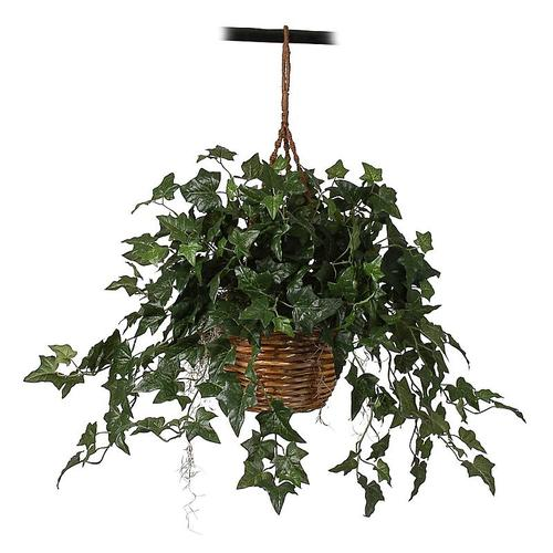 Nearly Natural 6507 English Ivy Hanging Basket Silk Plant
