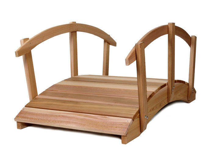 All Things Cedar FB144U-R 12 Garden Bridge- Rails- Western Red Cedar Brdige, Garden Bridge, Bridges, Pond Bridge, Decorative Bridge, Garden Accents, Wooden Garden Bridge