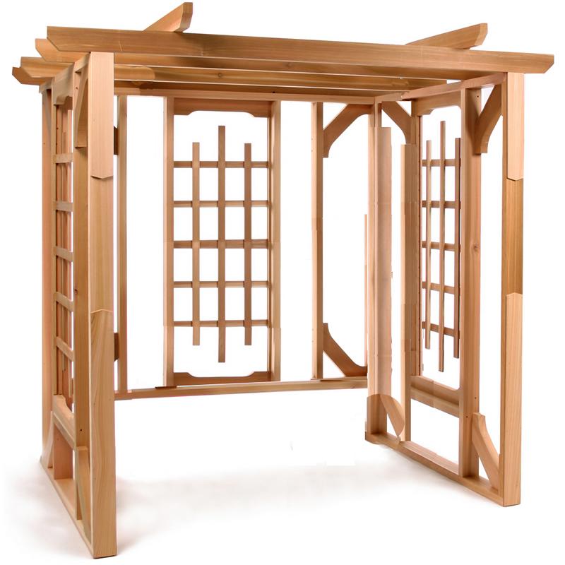 All Things Cedar PO72 Cedar Pergola-stand alone- Western Red Cedar