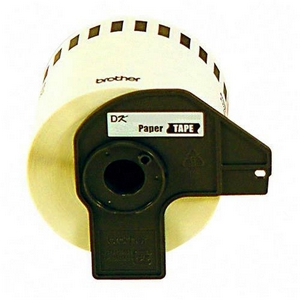 Brother P-Touch DK4605 Removable Paper Tape - 2.44    x 100  - 1 Tape - Paper Tape
