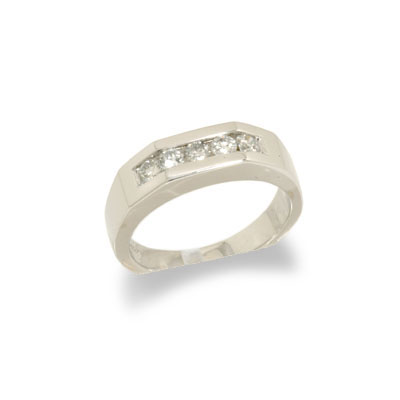 JewelryCastle 14K White Gold Ladies Diamond Wedding Band Size 6.5 at Sears.com