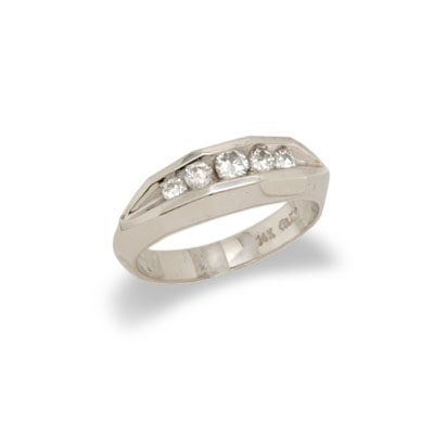 JewelryCastle 14K White Gold Ladies Diamond Wedding Band Size 7.5 at Sears.com