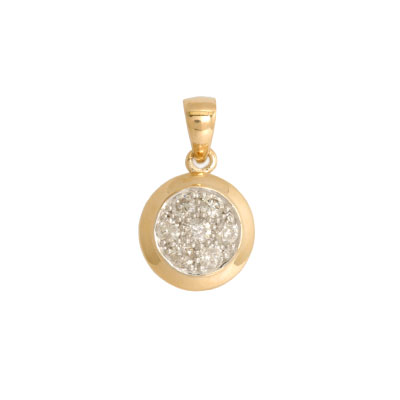 JewelryCastle 3-780-DP-14KYG 14K Yellow Gold Diamond Pendant - 0.25 Ct Diamonds