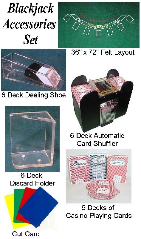 Poker 10-ACCBJSET Blackjack Accessories Set POKER6776