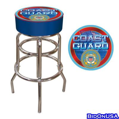 "Poker USCG-1000 30"" Coast Guard Padded Bar Stool"