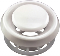 DEFLECTO TFG4 4 Inch Suspended Ceilling Diffuser - White PTR14816