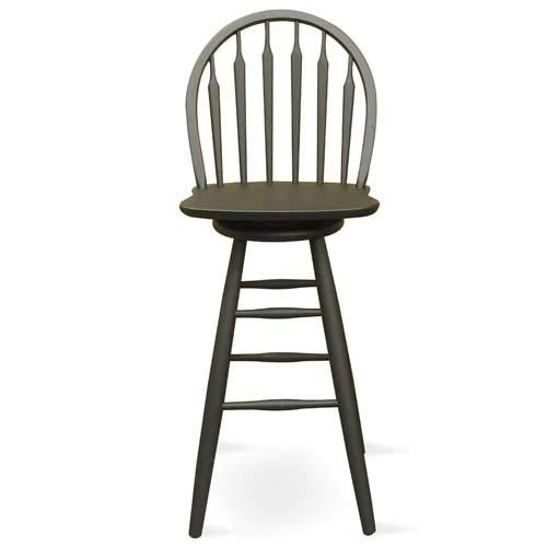 International Concepts S46 - 612 BLACK Windsor - Arrowback -Bar Stool 24 Inch - SWIVEL