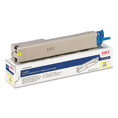 OKIDATA C3400n HC Yellow Toner Cartridge 43459301