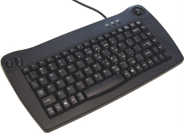 Image of ACK-5010UB - Keyboard - trackball - USB - black