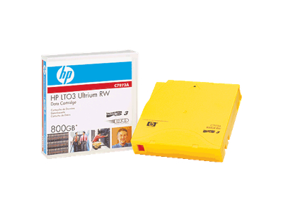 HP C7973AN LTO Ultrium 3 Non-Custom Labeled Tape Cartridge - LTO Ultrium LTO-3 - 400GB (Native)/800GB (Compressed)