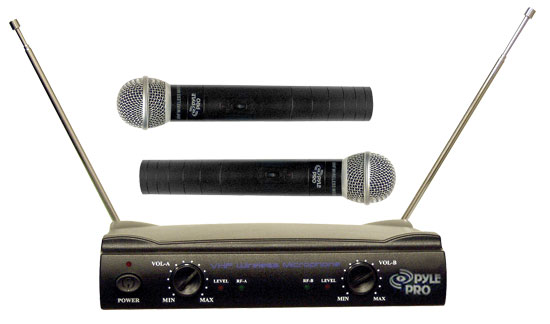 SOUND AROUND/PYLE INDUSTRIES PDWM2500 Dual VHF Wireless Microphone System