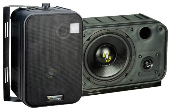 SOUND AROUND/PYLE INDUSTRIES PDMN58 6.5   Two-Way Bass Reflex Mini-Monitor System