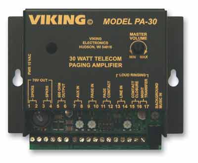 Viking Electronics PA-30 Viking 30 Watt Telecom Pagin A