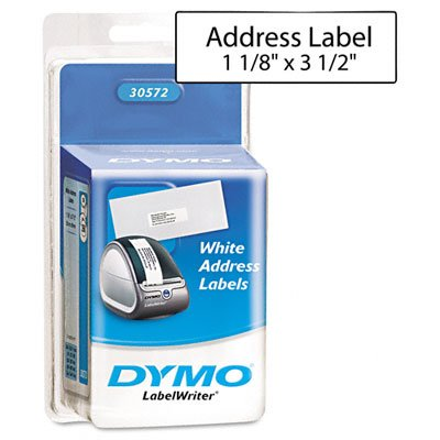 Sanford Brands 30572 Label  Dymo 1 1/8 x 3 1/2 Inches  White