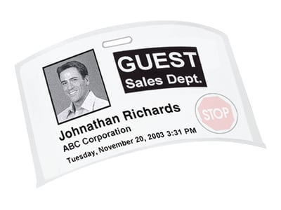 Sanford Brands 30911 Label  Dymo Name Badge 12-Hour Time