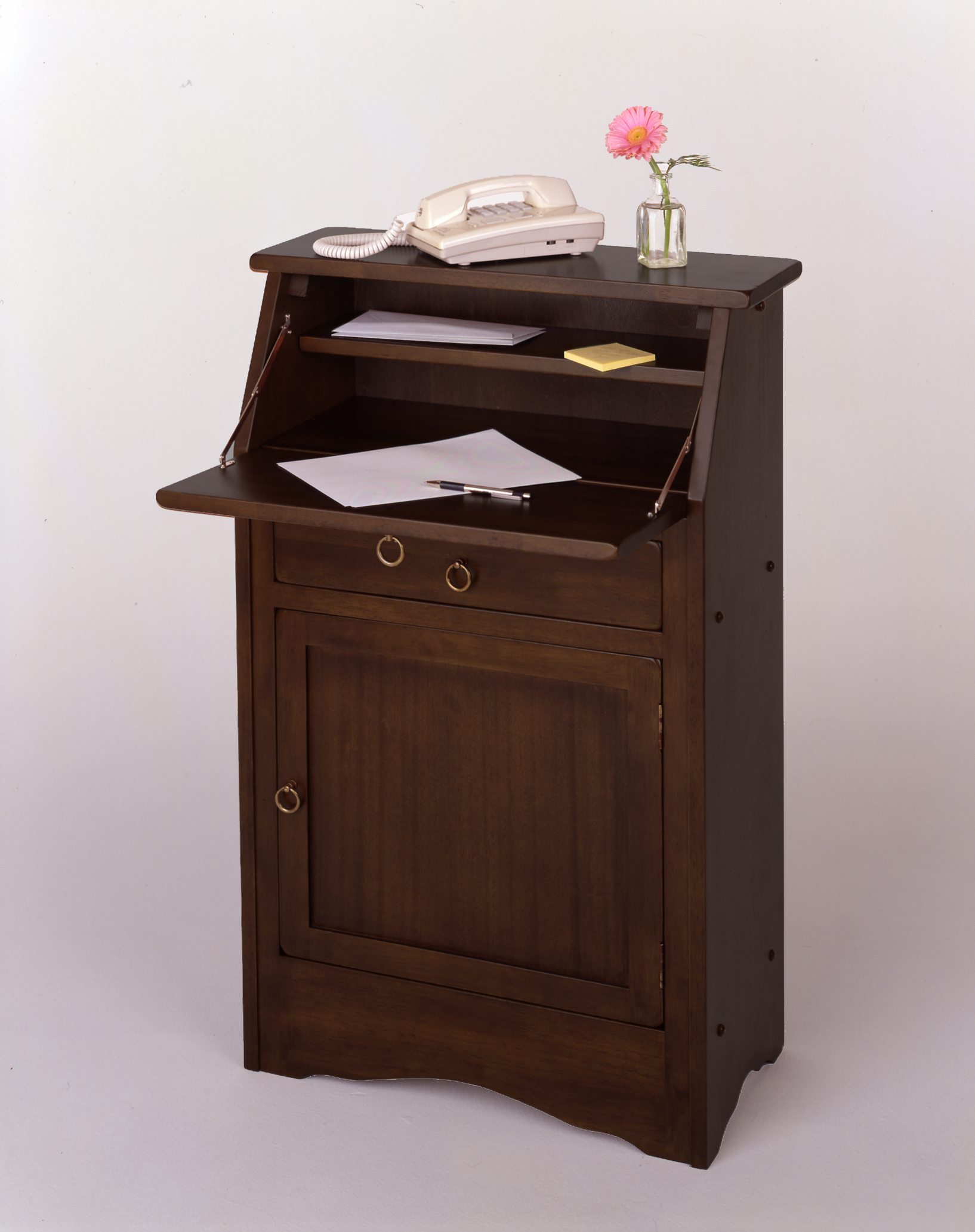 Winsome 94339 Walnut Beechwood SECRETARY DESK