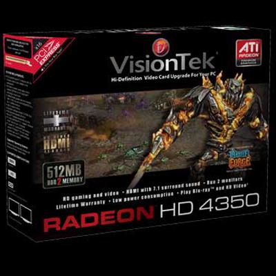 Visiontek 900273 Radeon 4350 PCIE 512MB