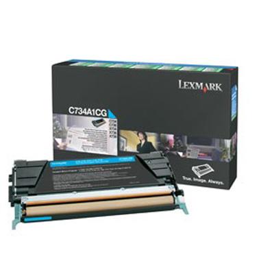 Lexmark International C734A1CG Cyan Toner Cartridge