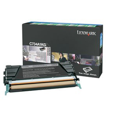 Lexmark International C734A1KG Black Toner Cartridge