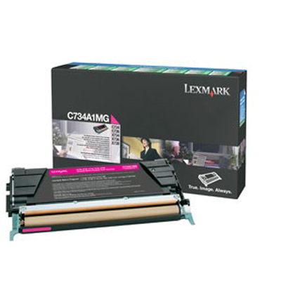 Lexmark International C734A1MG Magenta Toner Cartridge