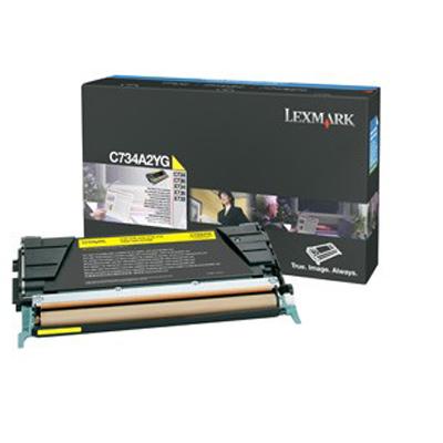 Lexmark International C734A2YG Yellow Toner Cartridge
