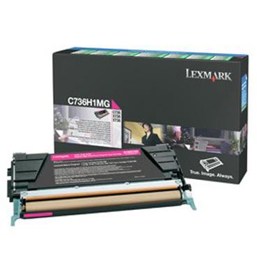 Lexmark International C736H1MG Magenta HY Return Prgm Toner