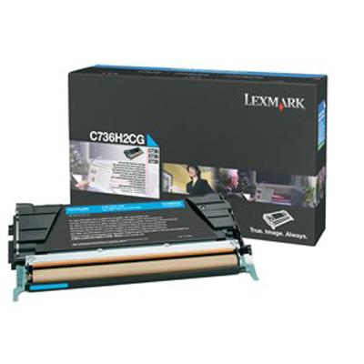 Lexmark International C736H2CG Cyan High Yield Toner Cart