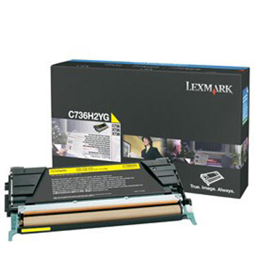 Lexmark International C736H2YG Yellow High Yield Toner Cart