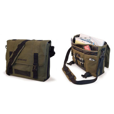 Mobile Edge MECME9 Eco-Friendly Canvas Messenger Bag - Green