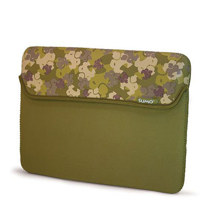 Mobile Edge ME-SUMO66139M 13  Camo Netbook Sleeve GRN