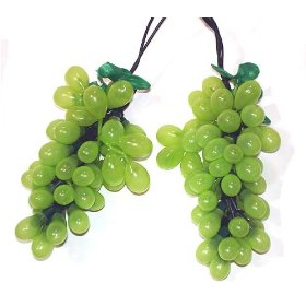 Kurt S. Adler H1283GR Wine Lovers Green Grape Christmas Light Set