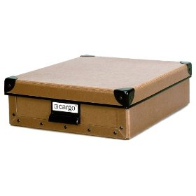 Resource International 8020421 Cargo Naturals Stationery Box - Nutmeg