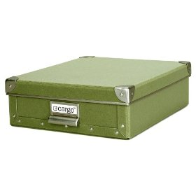 Resource International 8020525 Cargo Naturals Stationery Box - Sage