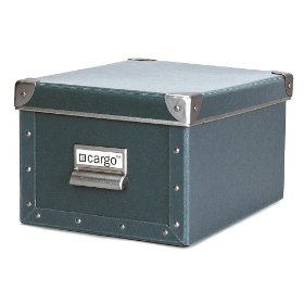 Resource International 8031325 Cargo Naturals Media Box- Bluestone