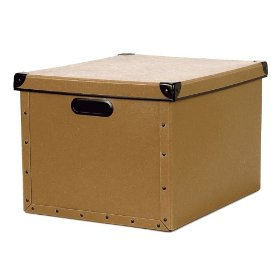 Resource International 8060421 Cargo Naturals Dual File Box- Nutmeg