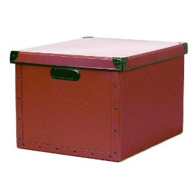 Resource International 8060721 Cargo Naturals Dual File Box- Red Spice