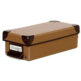 Resource International 8620421 Cargo Naturals Pencil Box- Nutmeg