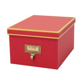 Resource International A1010103 Cargo Atheneum Media-Photo Box- Red