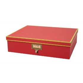 Resource International A1020103 Cargo Atheneum Document Box- Red