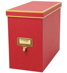 Resource International A1030103 Cargo Atheneum File Box- Red