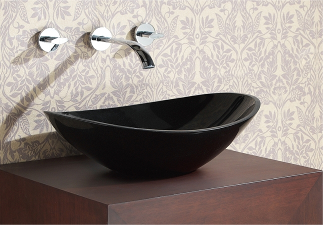Avanity SVE470BK Stone Vessel- Oval Black Granite