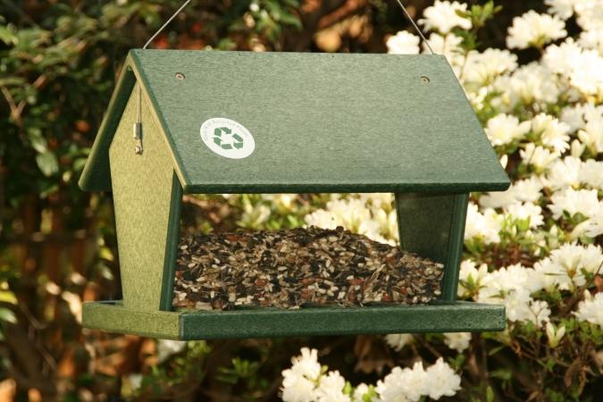 Songbird Essentials SERUBHF100 Hopper Feeder-Hunter Green-4 qts.