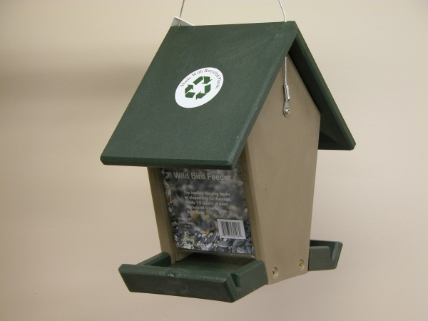 Songbird Essentials SERUBHF55 Molded Small Hopper Feeder with Sloped Tray Hunter Driftwood