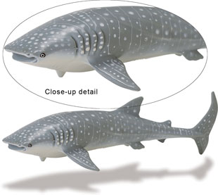 Safari 210602 Whale Shark Animal Figure- Pack of 2