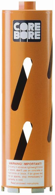 Diamond Products 00011 Core Bore 2   - Heavy Duty Orange Dry Hole Saw Bit for block and soft brick